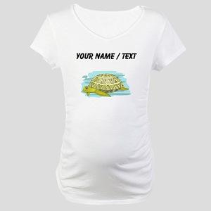 Custom Sea Turtle Maternity T-Shirt