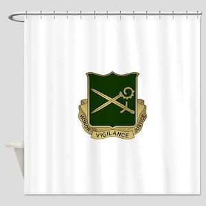 385th MP Battalion Crest Shower Curtain