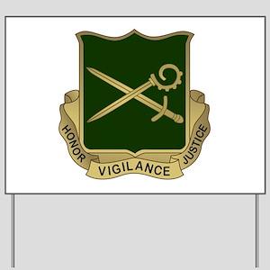 385th MP Battalion Crest Yard Sign