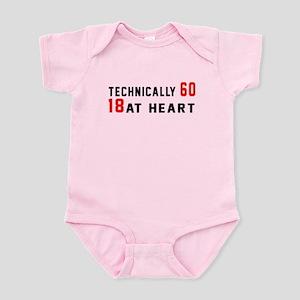 60 Birthday Designs Baby Light Bodysuit