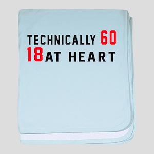60 Birthday Designs baby blanket