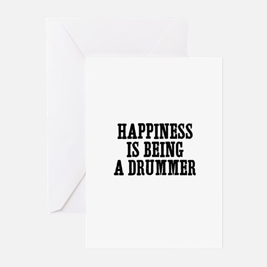 happiness is being a drummer Greeting Cards (Packa