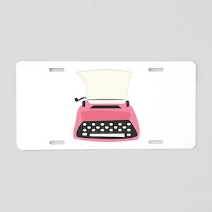 Typewriter Aluminum License Plate