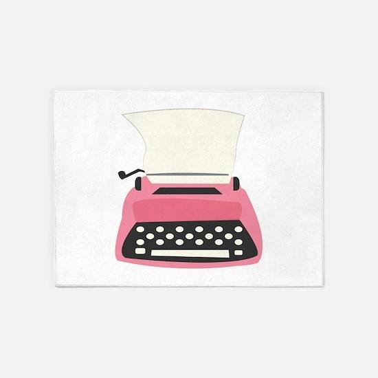 Typewriter 5'x7'Area Rug