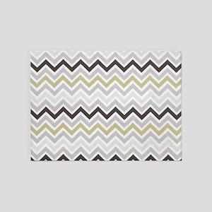 modern grey chevron pattern 5'x7'Area Rug