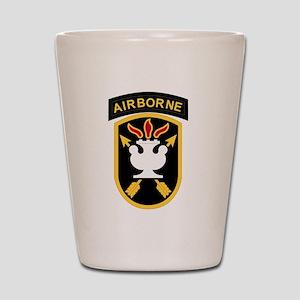 us army john f kennedy special warfare Shot Glass