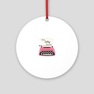 Mean Writing Machine Ornament (Round)