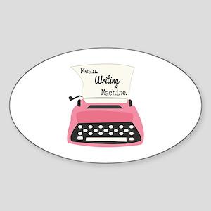 Mean Writing Machine Sticker