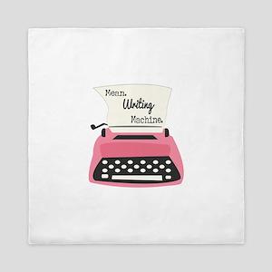 Mean Writing Machine Queen Duvet
