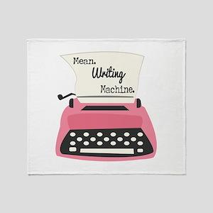 Mean Writing Machine Throw Blanket