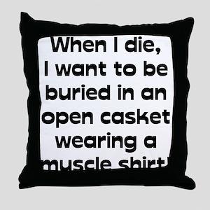 Muscle Shirt Throw Pillow