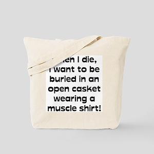 Muscle Shirt Tote Bag