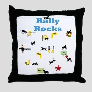 Rally Rocks v5 Throw Pillow