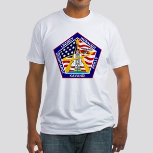 Shuttle Mission 104 Patch Fitted T-Shirt