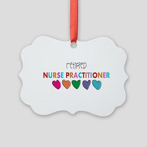 rETIRED nURSE pRACTITIONER HEARTS Picture Ornament