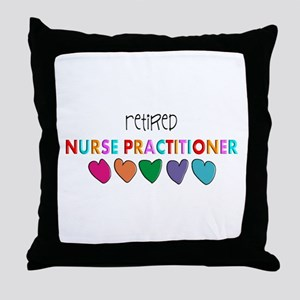 rETIRED nURSE pRACTITIONER HEARTS Throw Pillow