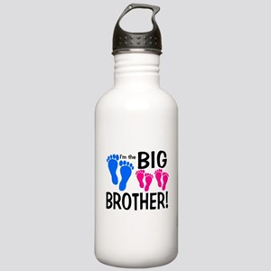 I'm the Big Brother! two pink feet Water Bottle