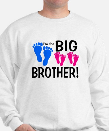 I'm the Big Brother! two pink feet Jumper