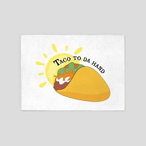 Taco To Da Hand 5'x7'Area Rug