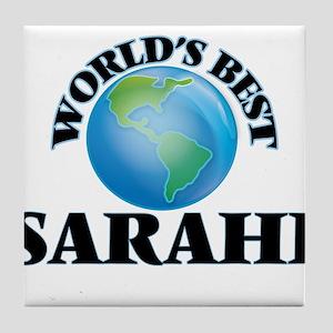 World's Best Sarahi Tile Coaster