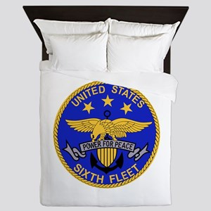 SIXTH FLEET US Navy Military PATCH Queen Duvet