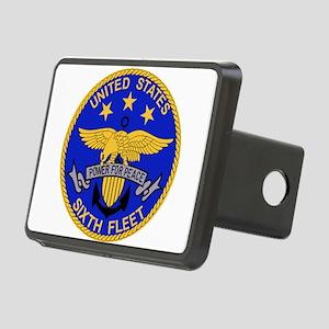 SIXTH FLEET US Navy Milita Rectangular Hitch Cover