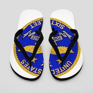 SIXTH FLEET US Navy Military PATCH. Flip Flops