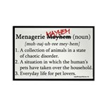 Menagerie Mayhem Rectangle Magnet