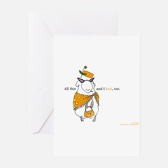 Unique Yarn art Greeting Cards (Pk of 20)