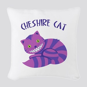 Cheshire Cat Woven Throw Pillow