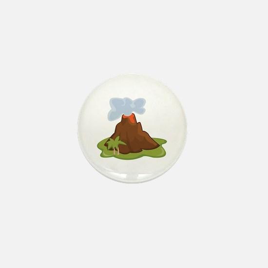 Volcano Mini Button