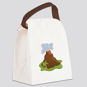 Volcano Canvas Lunch Bag
