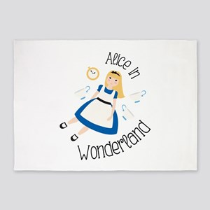 Alice in Wonderland 5'x7'Area Rug