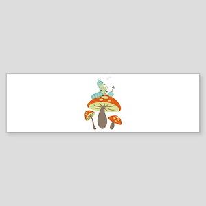 Mushroom Caterpillar Bumper Sticker