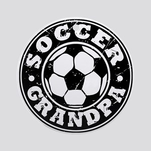 Soccer Grandpa Ornament (Round)