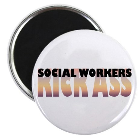 "Social Workers Kick Ass 2.25"" Magnet (100 pac"