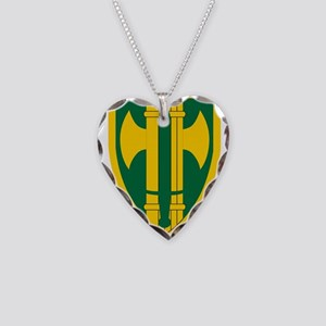 18th MP Brigade Necklace Heart Charm