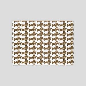 Dachshund Wiener Dog Pattern 5'x7'Area Rug