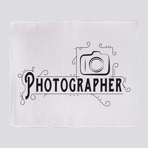 Photographer Throw Blanket