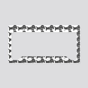 Dachshund Wiener Dog Pattern License Plate Holder
