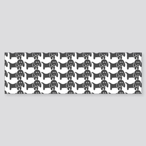 Dachshund Wiener Dog Pattern Sticker (Bumper)