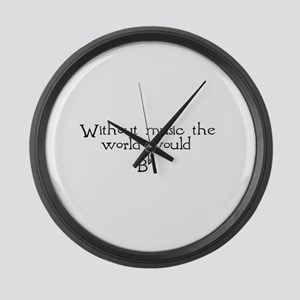 without music Large Wall Clock