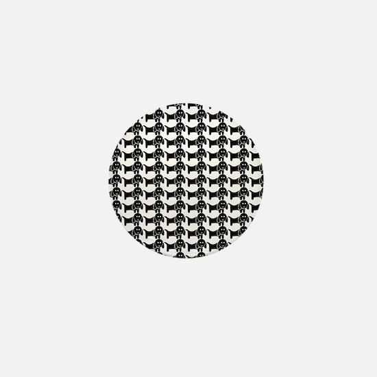 Black and White Dachshund Wiener Dog P Mini Button