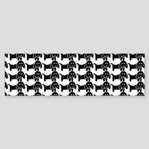 Black and White Dachshund Wiener Sticker (Bumper)