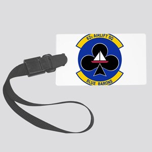 62nd Airlift Squadron Large Luggage Tag