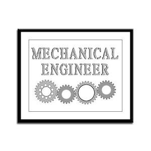 Mechanical Engineer Framed Panel Print