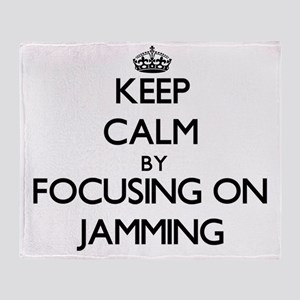 Keep Calm by focusing on Jamming Throw Blanket