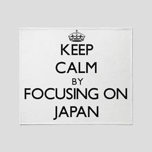 Keep Calm by focusing on Japan Throw Blanket