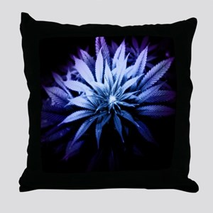 Blue Kush Throw Pillow
