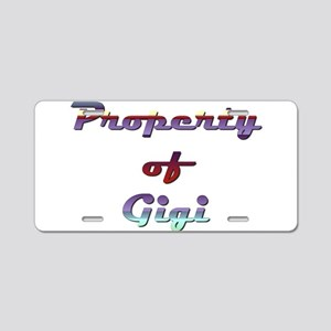 Property Of Gigi Female Aluminum License Plate